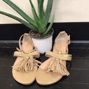 Express gold open toe sandals